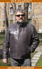 Férfi bőrkabát, bőrdzseki - Sly Classic Leather  Fashion