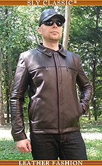Férfi bőrdzseki, bőrsapka - Sly Classic Leather Fashion